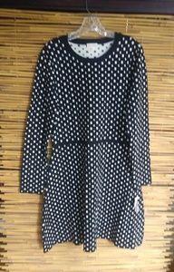 Maison Jules Aruba Black Combo Knit Dress XL